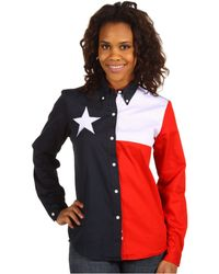 Roper - Texas Pieced Flag Shirt - Lyst