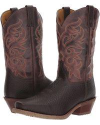 Laredo - Barn Stormer (dark Brown) Cowboy Boots - Lyst
