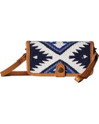 STS Ranchwear Durango Serape Crossbody Wallet - Blue