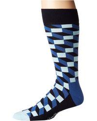 Happy Socks - Filled Optic Socks (blue Combo) Men's Crew Cut Socks Shoes - Lyst