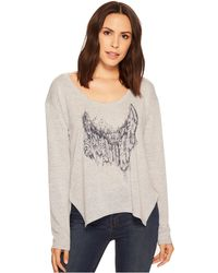 Roper - 1427 Scoop Neck Long Sleeve Sweater (grey) Women's Clothing - Lyst