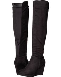 Chinese Laundry - Lulu Boot (grey Micro Suede) Women's Boots - Lyst