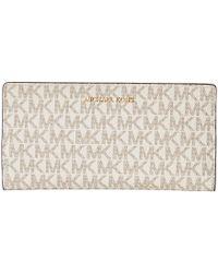 bb6136c14d4180 MICHAEL Michael Kors - Large Card Case Carryall (vanilla/acorn) Credit Card  Wallet