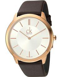 CALVIN KLEIN 205W39NYC - Minimal Watch - K3m216g6 - Lyst