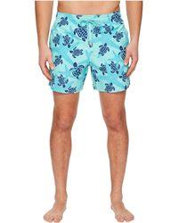 ef096e01ad Vilebrequin Starlettes & Turtles Swim Trunks in Blue for Men - Lyst