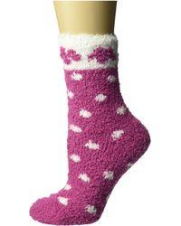 Karen Neuburger Flower Dot Gripper Sock - Red