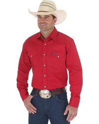 Wrangler Western Work Shirt Firm Finish - Black