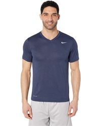 ee83e7ca Nike - Legend 2.0 Short Sleeve V-neck Tee (obsidian Heather/matte Silver