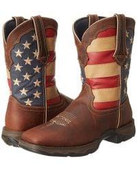 Durango - Rd4414 - Flag (dark Brown) Women's Pull-on Boots - Lyst