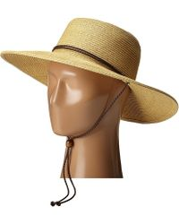 San Diego Hat Company - Ubm4453 4 Inch Brim Sun Hat With Twisted Adjustable Chin Cord (natural) Caps - Lyst