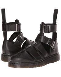Dr. Martens Geraldo Ankle Strap Sandal Shoes - Black