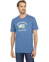 Life Is Good. Mobile Device Rv Crusher Tee - Blue