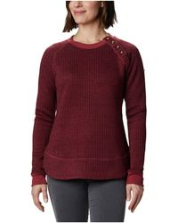 Columbia Chillin Sweater Clothing - Red