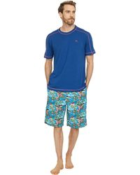 Tommy Bahama Cotton Woven Jam Pajama Set - Blue