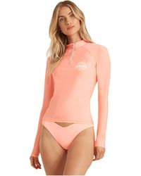 Billabong Sol Searcher Long Sleeve Rashguard - Pink