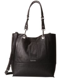 Calvin Klein - Unlined Tote (luggage/black) Tote Handbags - Lyst