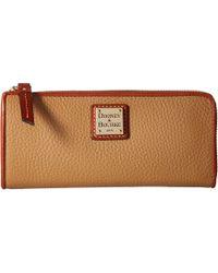 Dooney & Bourke - Pebble Zip Clutch (desert) Clutch Handbags - Lyst