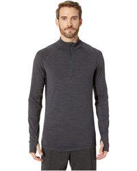 Icebreaker - Bodyfitzonetm 200 Zone Long Sleeve Half Zip (jet Heather/black) Men's Clothing - Lyst