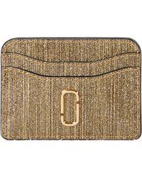 Marc Jacobs - Snapshot Glitter Stripe New Card Case - Lyst