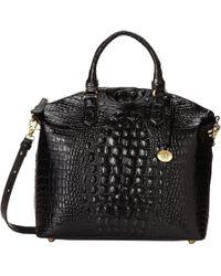 Brahmin - Melbourne Large Duxbury Satchel (silver Birch) Satchel Handbags - Lyst