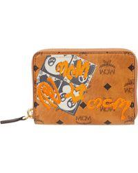 MCM - Berlin Bear Zipped Wallet Mini - Lyst