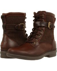 UGG ® Kesey Cold Weather Leather And Textile Boots - Brown