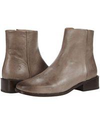 Frye River Inside Zip Bootie Shoes - Gray