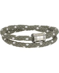 Miansai - Two-tone Leather Casing Bracelet (gray/white) Bracelet - Lyst