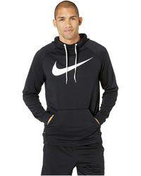 6c18b0cfe5 Nike - Swoosh Pullover Dry Training Hoodie (black white) Men s Sweatshirt -  Lyst