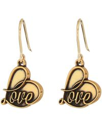 ALEX AND ANI - Love Hook Earrings (rafaelian Silver) Earring - Lyst