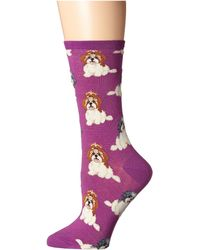 Socksmith - I Shih Tzu Not (blue) Women's Crew Cut Socks Shoes - Lyst