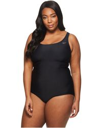 Nike - Plus Size Racerback Spliced One-piece (thunder Blue) Women's Swimsuits One Piece - Lyst