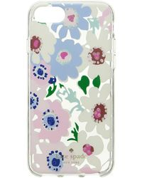 Kate Spade - Jeweled Daisy Garden Clear Phone Case For Iphone 8 - Lyst
