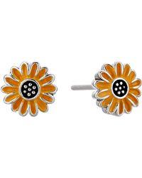 Pura Vida Enamel Sunflower Stud Earrings - Metallic