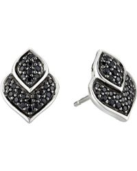 John Hardy - Legends Naga Stud Earrings With Black Sapphire And Black Spinel (silver) Earring - Lyst