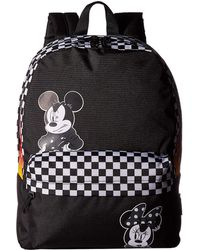 423e0a62f4 Vans - Mickey s 90th Punk Mickey Realm Backpack (black) Backpack Bags - Lyst