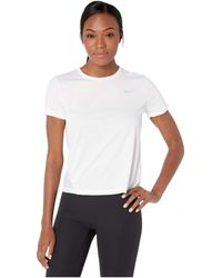 c0808adb Nike - Miler Top Short Sleeve (gunsmoke/heather/reflective Silver) Women's  Clothing