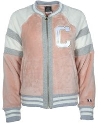 Champion - Super Fleece Faux Fur Jacket - Felt Coat - Lyst