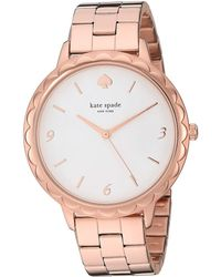 Kate Spade Metro Scallop Three-hand Stainless Steel Bracelet Watch - Pink