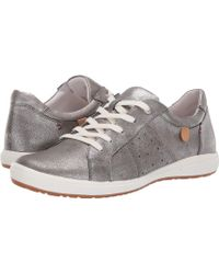 Josef Seibel Leather 'caren 01' Casual Sneakers - Metallic