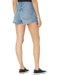 Madewell Relaxed Denim Shorts In Homecrest Wash: Ripped Edition - Blue