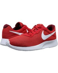 check out 1b051 032e0 ... red black white size 11 sale nike tanjun wolf grey white mens running  shoes lyst 1248e d5be5 ...