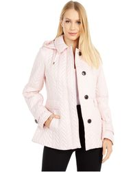 Kate Spade Chevron Quilted Coat - Pink