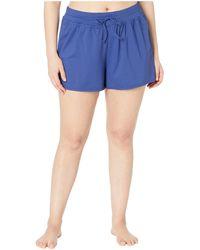24th & Ocean Plus Size Solids Swim Shorts - Blue