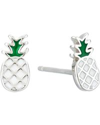 Pura Vida Pineapple Stud Earrings - Metallic