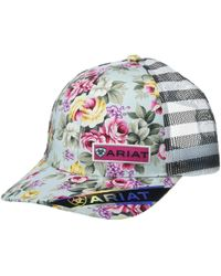 Ariat Floral Print W/ Offset Logo Cap - Blue