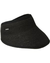 San Diego Hat Company Ubv043 Sport Visor With A Stretch Band Closure - Black