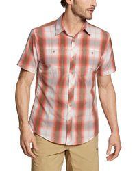 Eddie Bauer Greenpoint Short Sleeve Shirt - Red