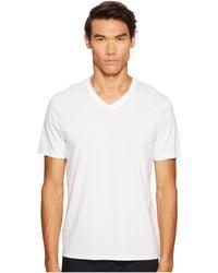 Vince - Short Sleeve Pima Cotton V-neck Shirt (black) Men's Short Sleeve Pullover - Lyst