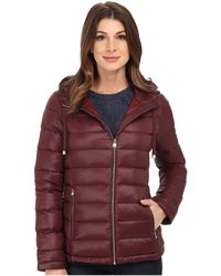 CALVIN KLEIN 205W39NYC - Short Packable Down Coat W/ Horizontal Quilt Pattern - Lyst